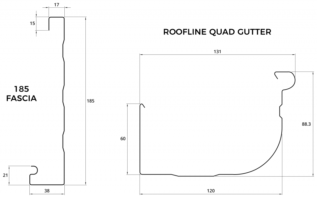 Fascia & Roofline Quad Gutter