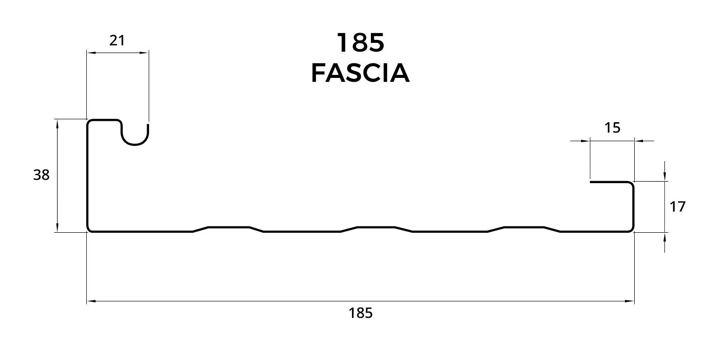 Roofline 185 Steel Fascia