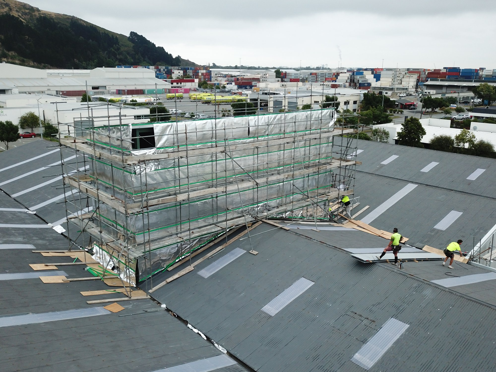 Industrial Tower Cladding Installation